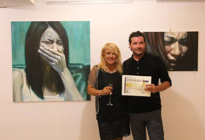 """Awesome Expo 2013"" CrisolArt Gallery , Barcellona 1° Premio Louvre Exposition"