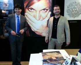 """""""Art Monacò 2014″ Stand QueenArtStudio con il Critico d'Arte Giorgio Grasso"""