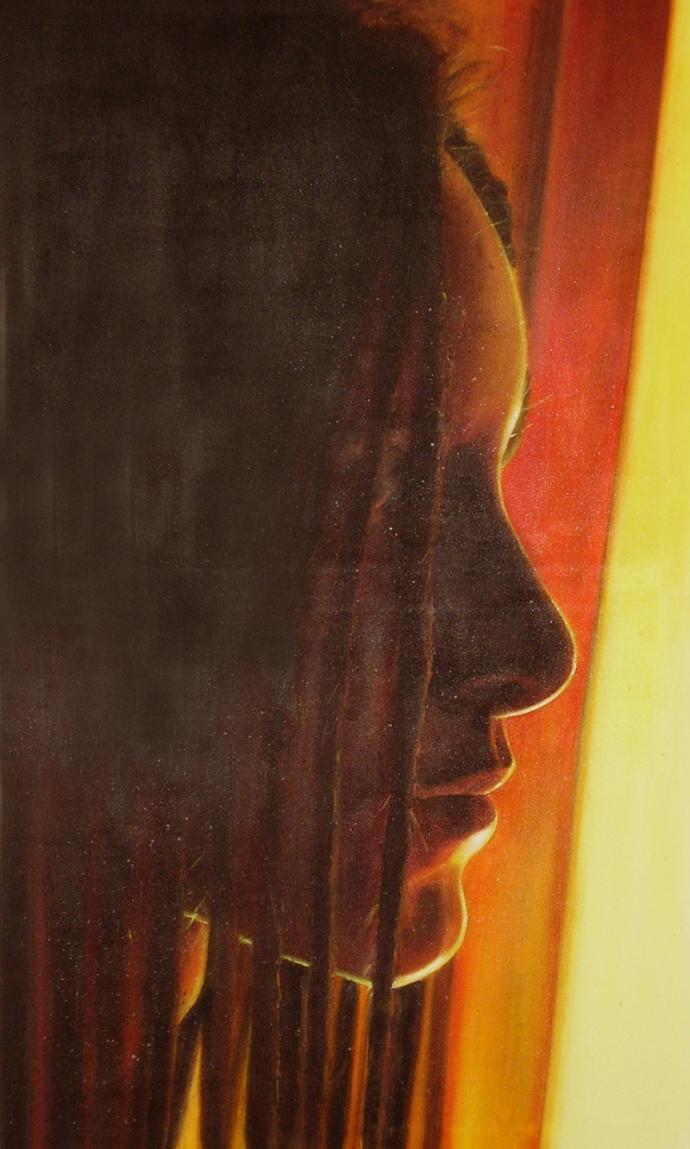 """4:30 a.m."" acrilic on canvas cm.120x70 2007"