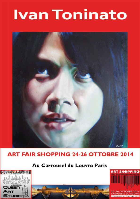 24/26 October 2014, 13° Edition Salon du Louvre exposition. Stand QueenArtStudio