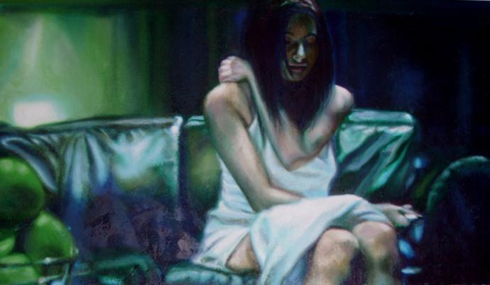 """Frame #7"" acrilic, mixed media on canvas cm.120x70 2013"