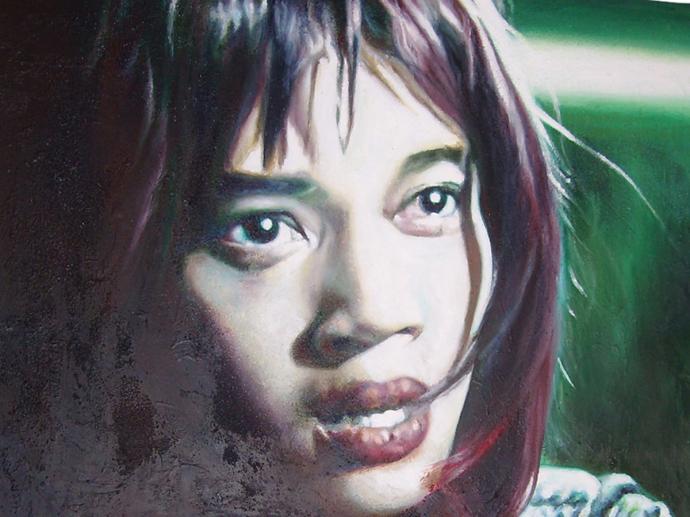 """Frame #8"" acrilico,tecnica mista su tela cm.80x60 2014"