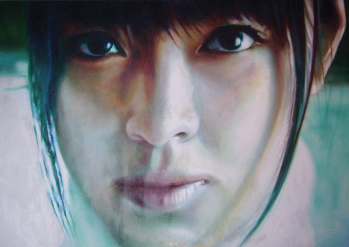 """Frame #9"" acrilic, mixed media on canvas cm.150x100 2014"