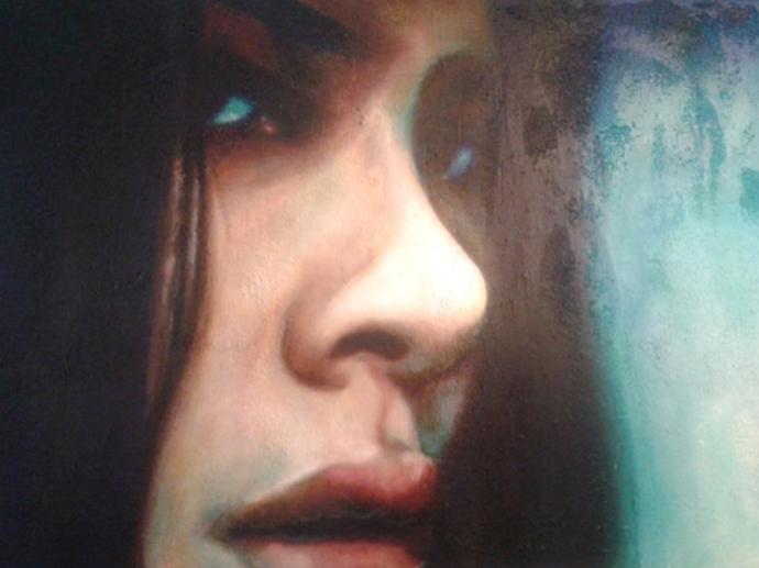 """Frame #10"" acrilico,tecnica mista su tela cm.70x50 2014"