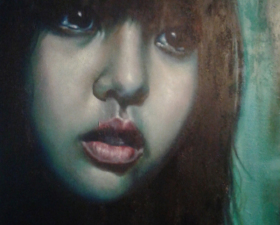 """Frame #12"" acrilico,tecnica mista su tela cm.70x100 2014"