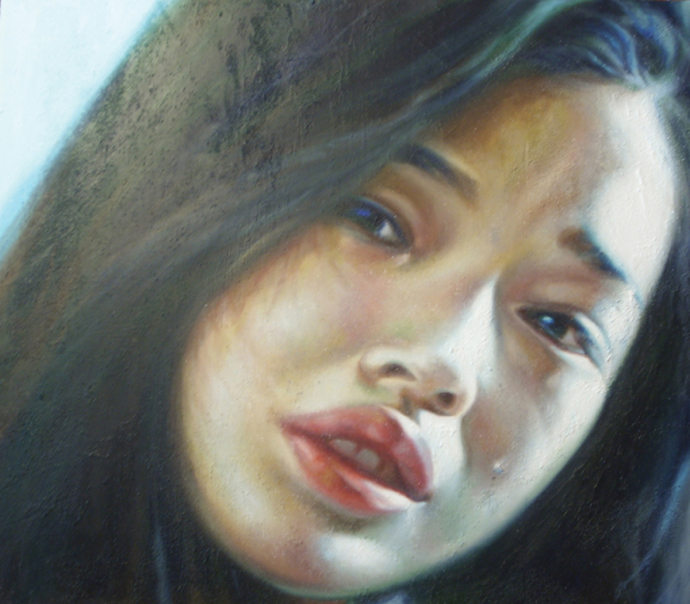 """Frame #5"" acrilic, mixed media on canvas cm.80x70 2013"