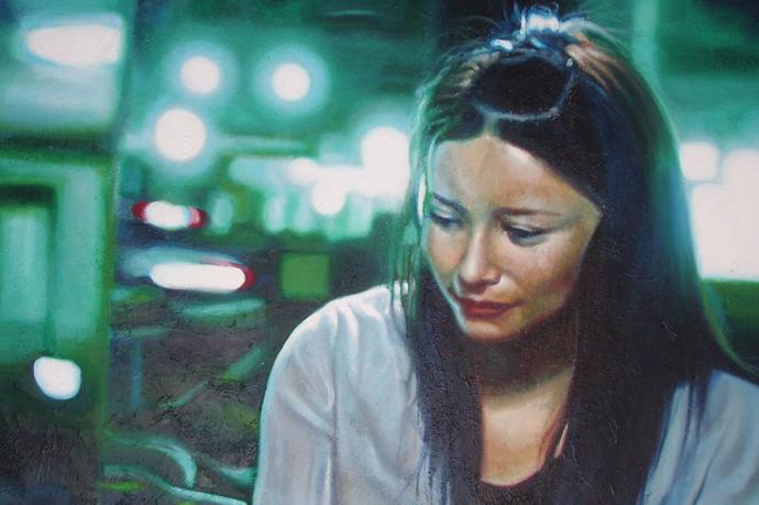 """Frame #6"" acrilic, mixed media on canvas cm.120x70 2013"