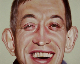 """Happiness?"" acrilic on canvas cm.80x100 2010"