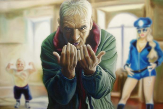 """""""N.n."""" acrilic on canvas cm.80x120 2010"""
