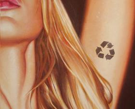 """""""Natural plastic"""" acrilico su tela cm.140x100 2008"""
