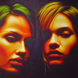 """Night ambiguity"" cm.100x100 acrilic on canvas 2007"