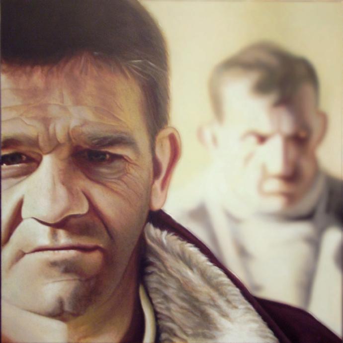 """No title"" acrilic on canvas cm.80x100 2010"