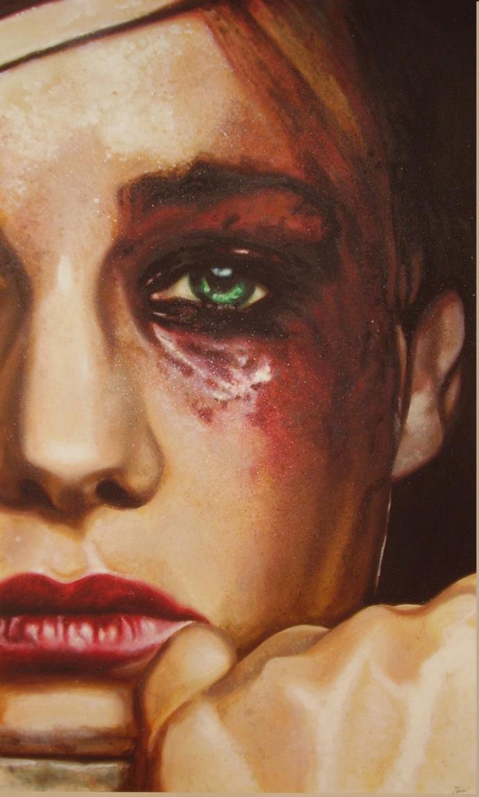 """""""Regards at Eolo Perfido"""" acrilic on canvas cm.70x120 2008"""