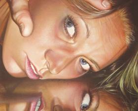 """""""Riflessione"""" acrilico su tela cm.100x150 2009"""