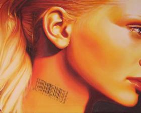 Venalità acrilico su tela cm.150x70 Ivan Toninato